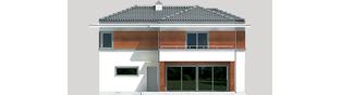 Projekt domu Tom G1 - elewacja tylna