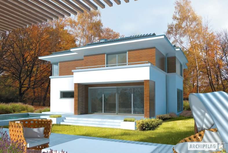 Projekt domu Tom G1 - wizualizacja ogrodowa