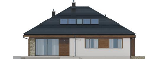 Flow II - Projekt domu Flo II - elewacja tylna