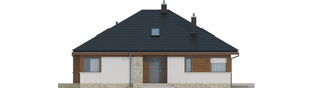 Projekt domu Flo II - elewacja frontowa