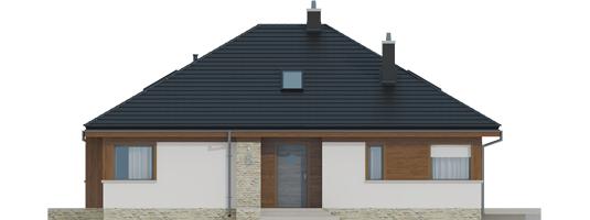 Фло ІІ - Projekt domu Flo II - elewacja frontowa
