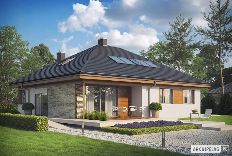 Projekt domu Flo II - wizualizacja ogrodowa