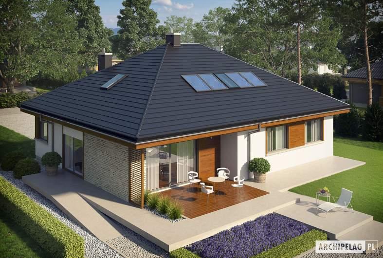 Projekt domu Flo II - widok z góry