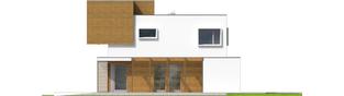 Projekt domu EX 10 II (z wiatą) ENERGO PLUS - elewacja prawa