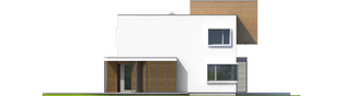 Projekt domu EX 10 II (z wiatą) ENERGO PLUS - elewacja lewa