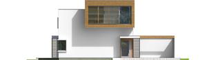 Projekt domu EX 10 II (z wiatą) ENERGO PLUS - elewacja frontowa