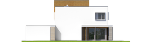 Projekt domu EX 10 II (z wiatą) ENERGO PLUS - elewacja tylna