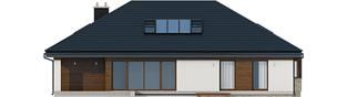 Projekt domu Gabriel II G1 ENERGO - elewacja tylna