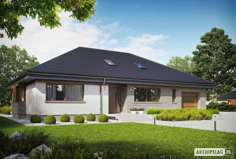 Projekt domu Gabriel II G1 ENERGO - wizualizacja frontowa