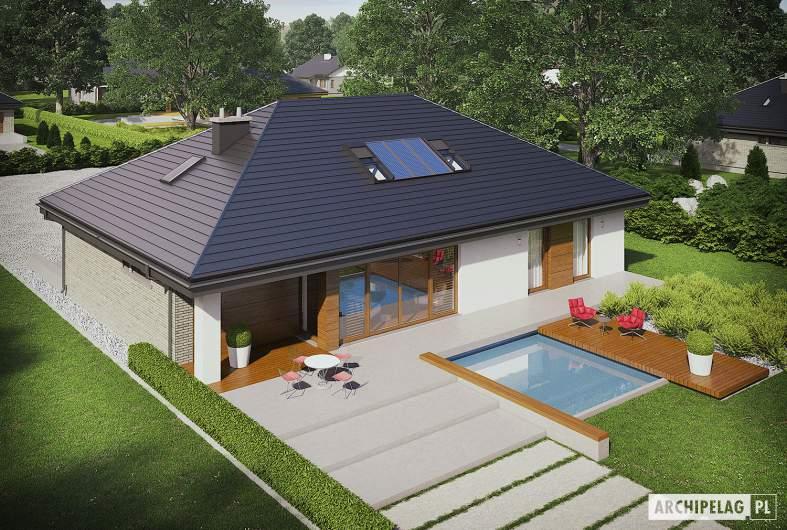 Projekt domu Gabriel II G1 ENERGO - widok z góry