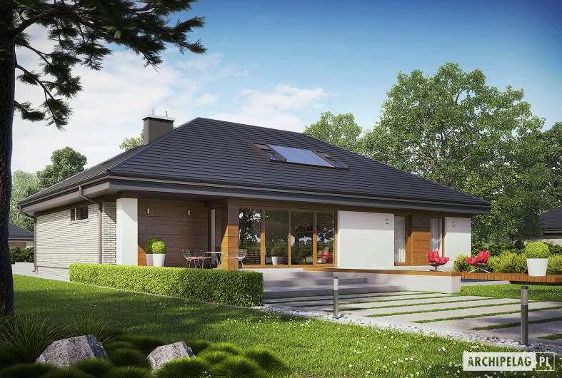 Projekt domu Gabriel II G1 ENERGO - wizualizacja ogrodowa