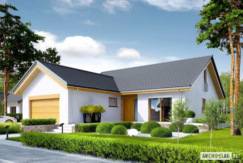 Projekt domu Simon G2 ENERGO PLUS - wizualizacja frontowa