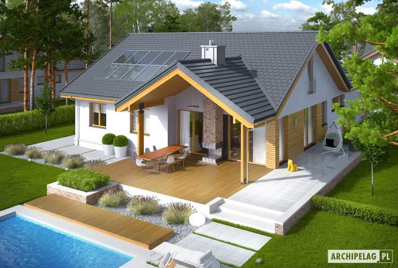 Projekt domu Simon G2 ENERGO PLUS - widok z góry