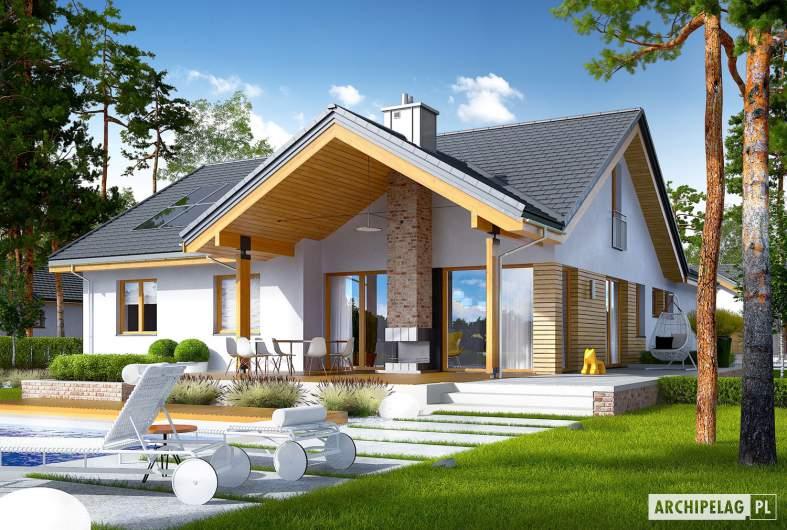 Projekt domu Simon G2 ENERGO PLUS - wizualizacja ogrodowa