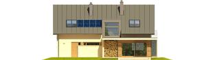 Projekt domu Kamelia G1 - elewacja tylna