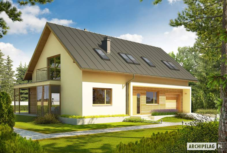 Projekt domu Kamelia G1 - wizualizacja frontowa