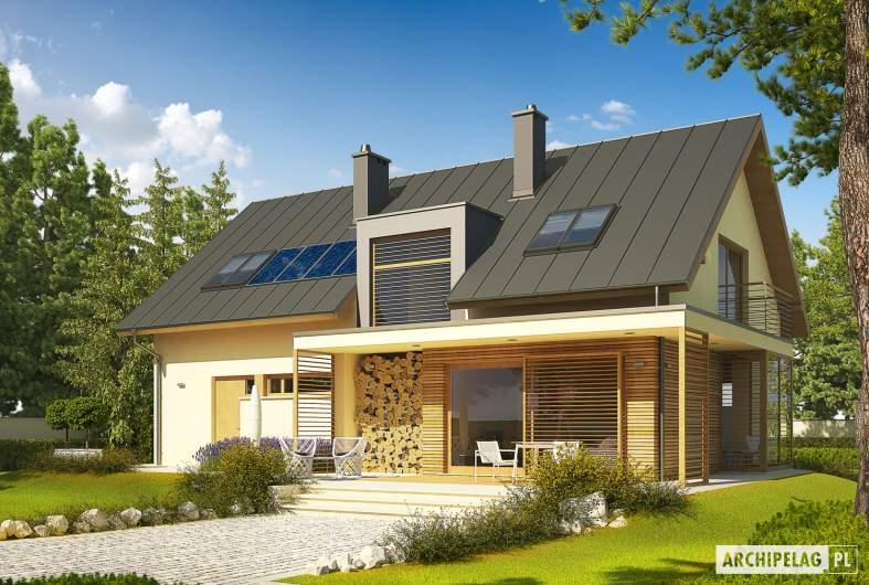 Projekt domu Kamelia G1 - wizualizacja ogrodowa