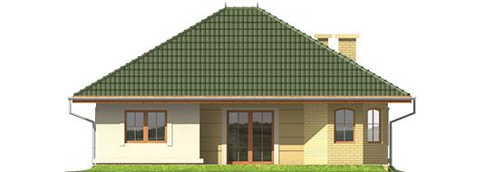 Kama - Projekt domu Kama - elewacja tylna