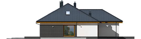 Astrid M G2 - Projekt domu Astrid (mała) II G2 - elewacja prawa
