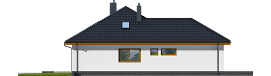 Astrid M G2 - Projekt domu Astrid (mała) II G2 - elewacja lewa