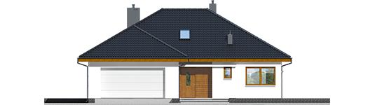 Astrid M G2 - Projekt domu Astrid (mała) II G2 - elewacja frontowa