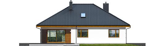 Astrid M G2 - Projekt domu Astrid (mała) II G2 - elewacja tylna