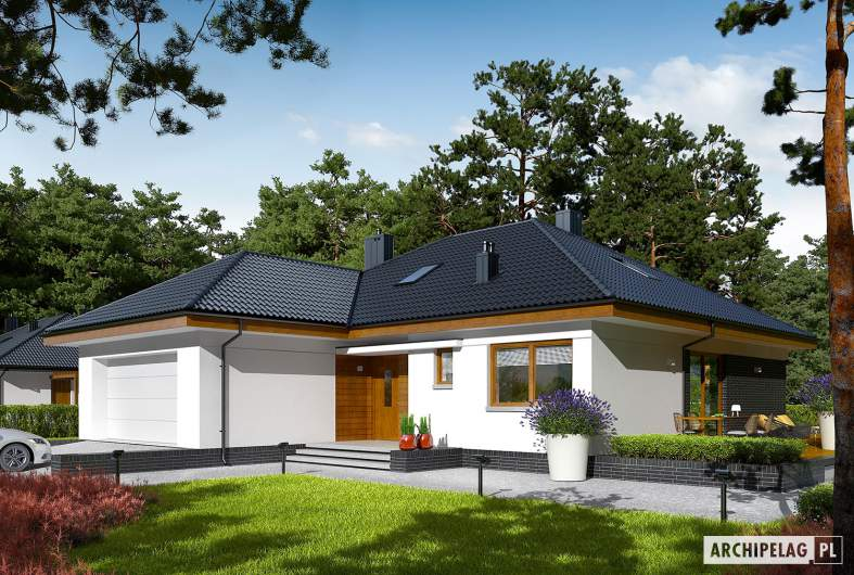Projekt domu Astrid (mała) II G2 - wizualizacja frontowa