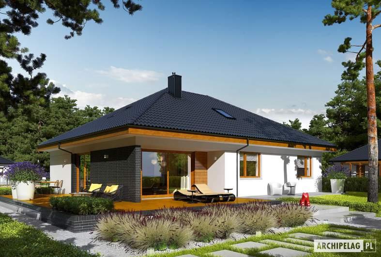 Projekt domu Astrid (mała) II G2 - wizualizacja ogrodowa