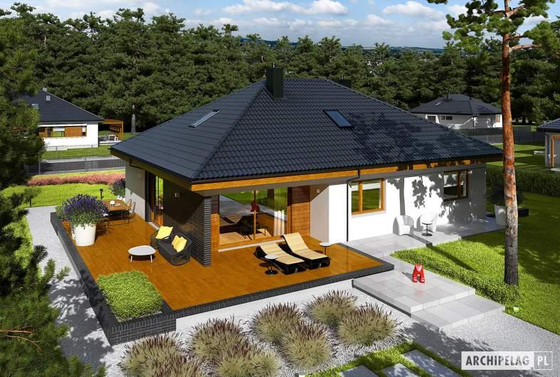 Projekt domu Astrid (mała) II G2 - wizualizacja widok z góry
