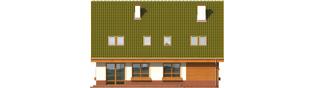 Projekt domu Kika G1 - elewacja tylna