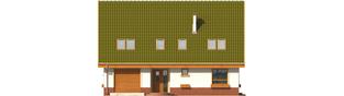 Projekt domu Kika G1 - elewacja frontowa