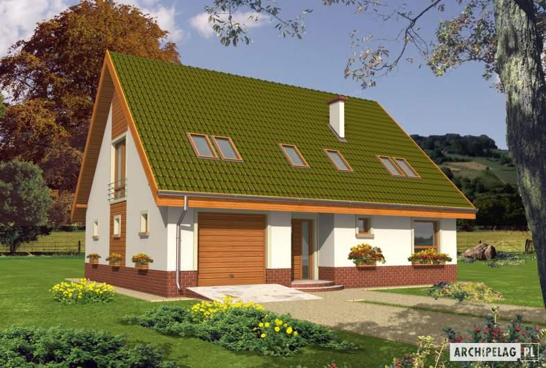 Projekt domu Kika G1 - Projekty domów ARCHIPELAG - Kika G1 - wizualizacja frontowa