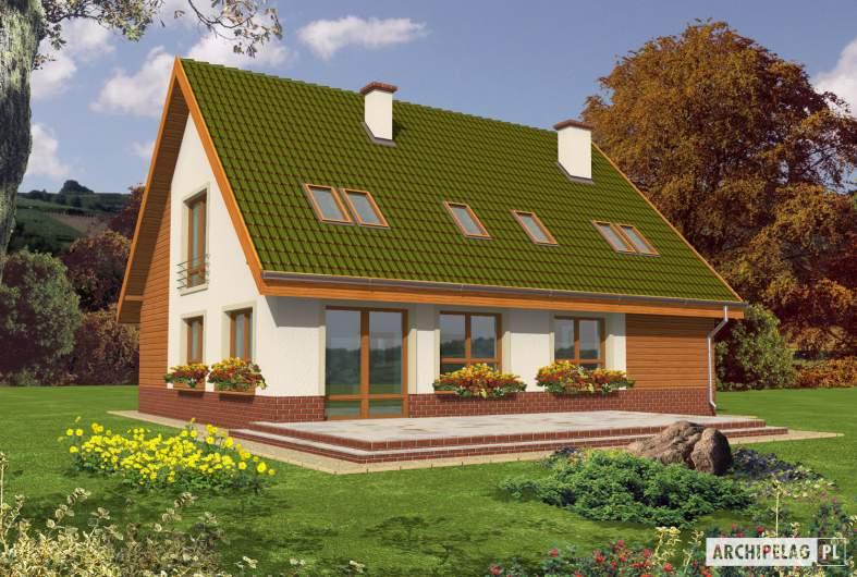 Projekt domu Kika G1 - Projekty domów ARCHIPELAG - Kika G1 - wizualizacja ogrodowa