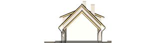 Projekt domu Calineczka G1 - elewacja lewa