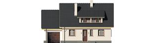 Projekt domu Calineczka G1 - elewacja frontowa