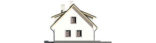 Projekt domu Calineczka G1 - elewacja prawa