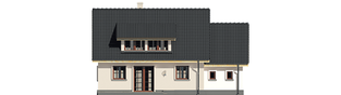 Projekt domu Calineczka G1 - elewacja tylna