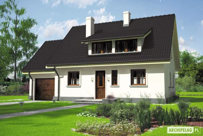 Projekt domu Calineczka G1 - Projekty domów ARCHIPELAG - Calineczka G1 - wizualizacja frontowa