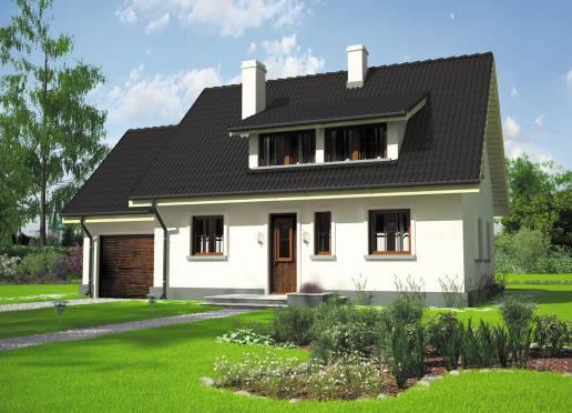 Mājas projekts - Calineczka (ar garāžu)