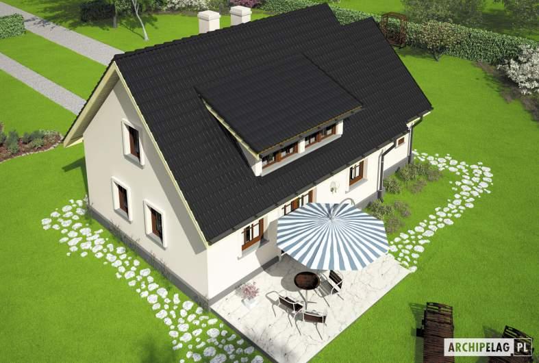 Projekt domu Calineczka G1 - Projekty domów ARCHIPELAG - Calineczka G1 - widok z góry