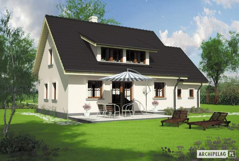 Projekt domu Calineczka G1 - Projekty domów ARCHIPELAG - Calineczka G1 - wizualizacja ogrodowa