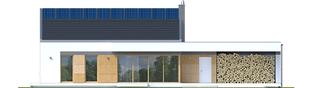 Projekt domu EX 11 G2 (wersja C) ENERGO PLUS - elewacja tylna