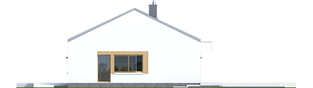 Projekt domu EX 11 G2 (wersja C) ENERGO PLUS - elewacja prawa