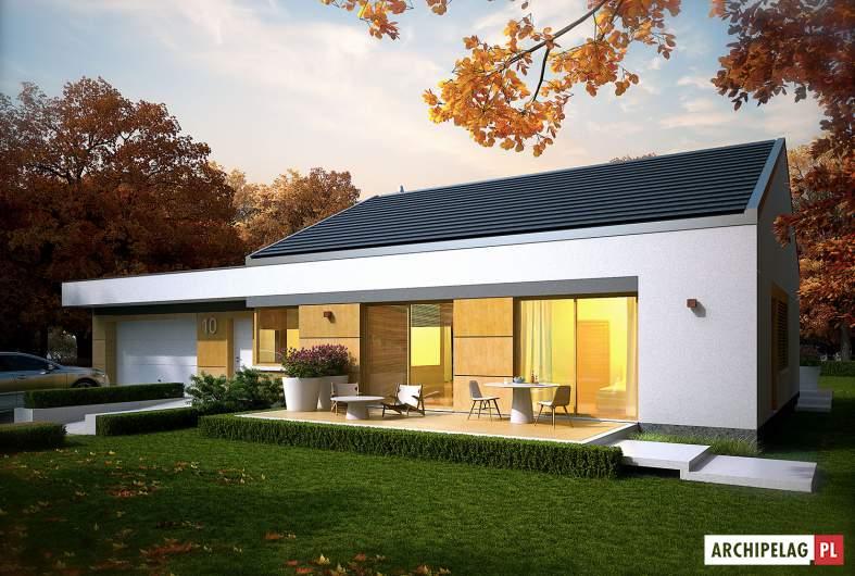 Projekt domu EX 11 G2 (wersja C) - wizualizacja frontowa