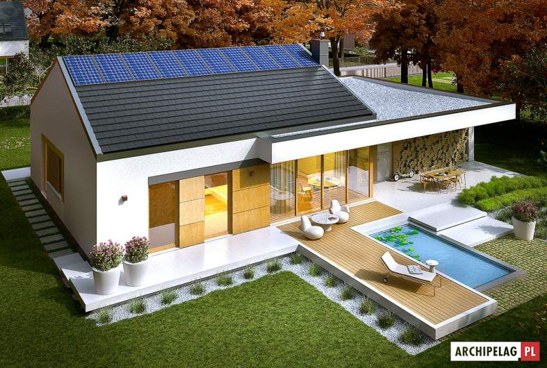 Projekt domu EX 11 G2 (wersja C) - widok z góry