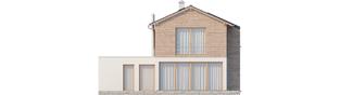 Projekt domu Feliks G1 - elewacja tylna
