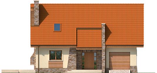 Bassy G1 - Projekt domu Basia G1 - elewacja frontowa