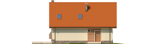 Projekt domu Basia G1 - elewacja tylna