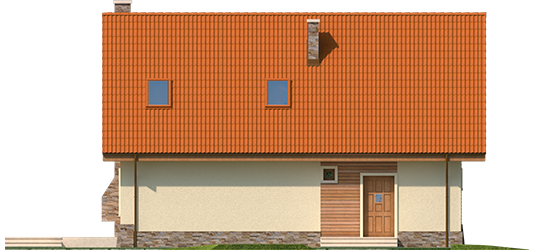 Bassy G1 - Projekt domu Basia G1 - elewacja tylna