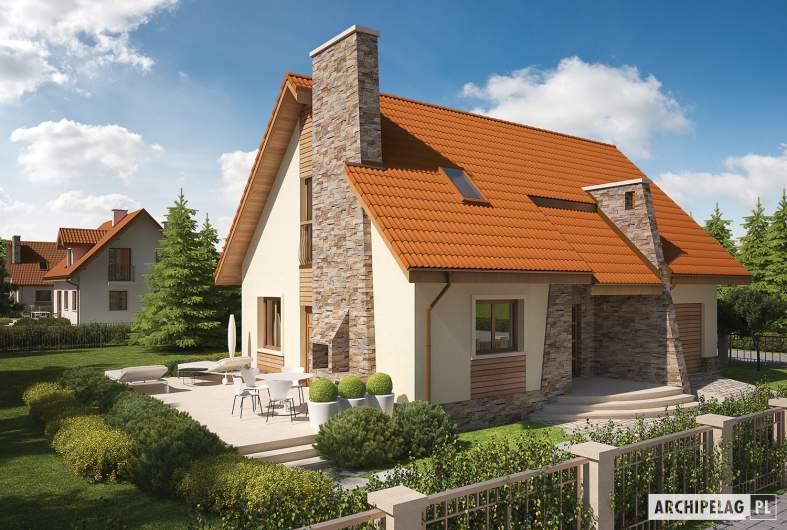 Projekt domu Basia G1 - wizualizacja frontowa